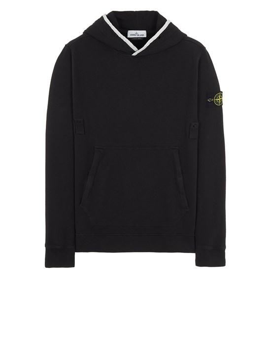 Sweatshirt Man 60620 BRUSHED COTTON FLEECE Front STONE ISLAND