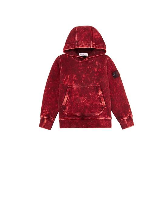 STONE ISLAND JUNIOR 61941 OFF DYE OVD TREATMENT Sweatshirt Man Maroon
