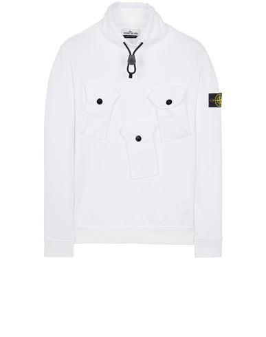 STONE ISLAND 60519 BRUSHED COTTON FLEECE Sweatshirt Man White EUR 295