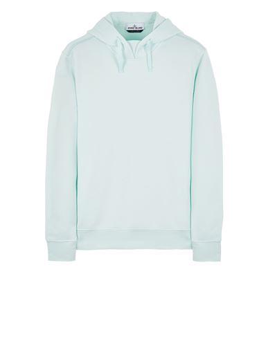 STONE ISLAND 61635 ORGANIC COTTON/ SEAQUAL® POLYESTER YARN Sweatshirt Man Light Green EUR 255