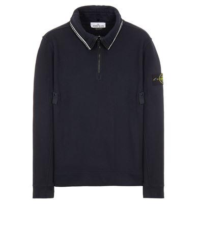 STONE ISLAND 60720 BRUSHED COTTON FLEECE Sweatshirt Man Blue EUR 279