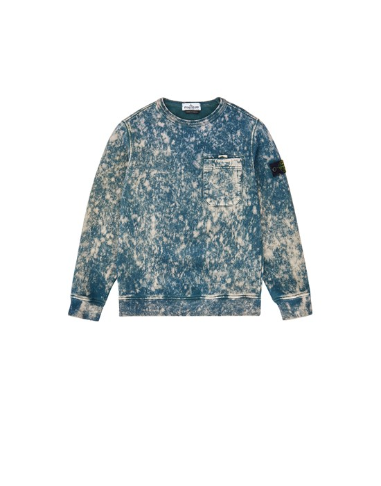 STONE ISLAND JUNIOR 61141 OFF DYE OVD TREATMENT Sweatshirt Man Blue