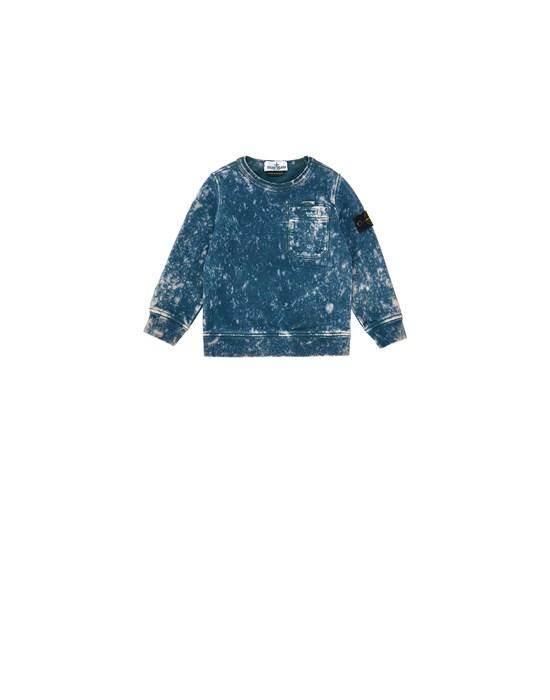 STONE ISLAND BABY 61141 OFF DYE OVD TREATMENT Sweatshirt Man Blue