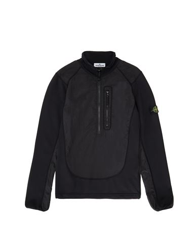 STONE ISLAND TEEN 60946 NYLON METAL Sweatshirt Man Black EUR 225