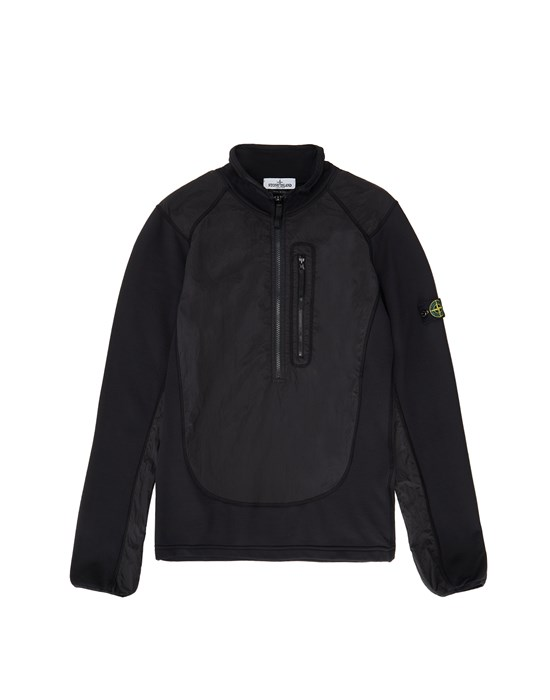 STONE ISLAND JUNIOR 60946 NYLON METAL Sweatshirt Man Black