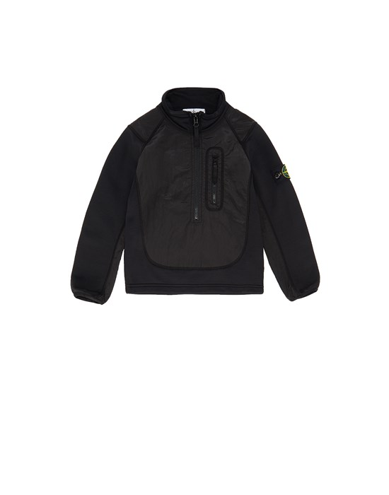 STONE ISLAND KIDS 60946 NYLON METAL Sweatshirt Man Black