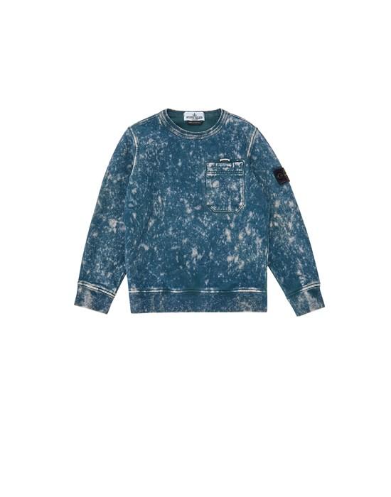 STONE ISLAND KIDS 61141 OFF DYE OVD TREATMENT Sweatshirt Man Blue