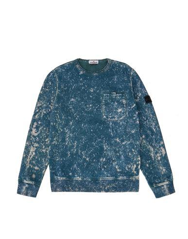 STONE ISLAND TEEN 61141 OFF DYE OVD TREATMENT Sweatshirt Man Blue EUR 195