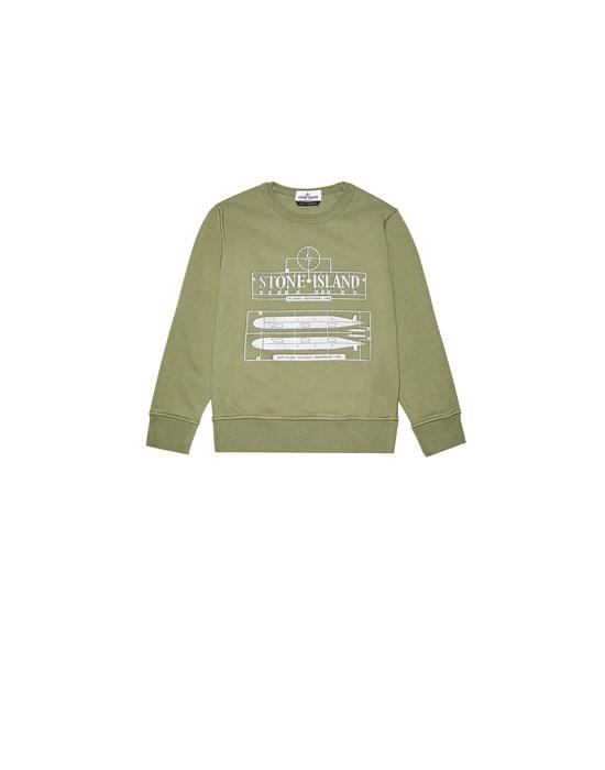 STONE ISLAND JUNIOR 61440 'MODEL KIT ONE' Sweatshirt Man Sage Green