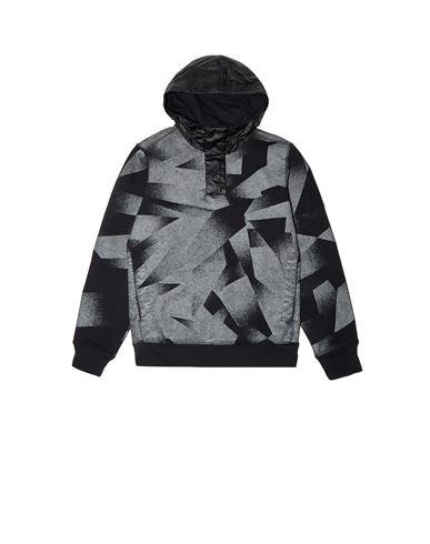 STONE ISLAND JUNIOR Sweatshirt Man 60344 S.I.DAZZLE REFLECTIVE CAMOUFLAGE ON FLEECE f