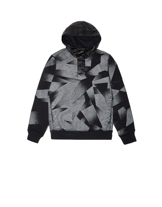 STONE ISLAND JUNIOR 60344 S.I.DAZZLE REFLECTIVE CAMOUFLAGE ON FLEECE Sweatshirt Man Black