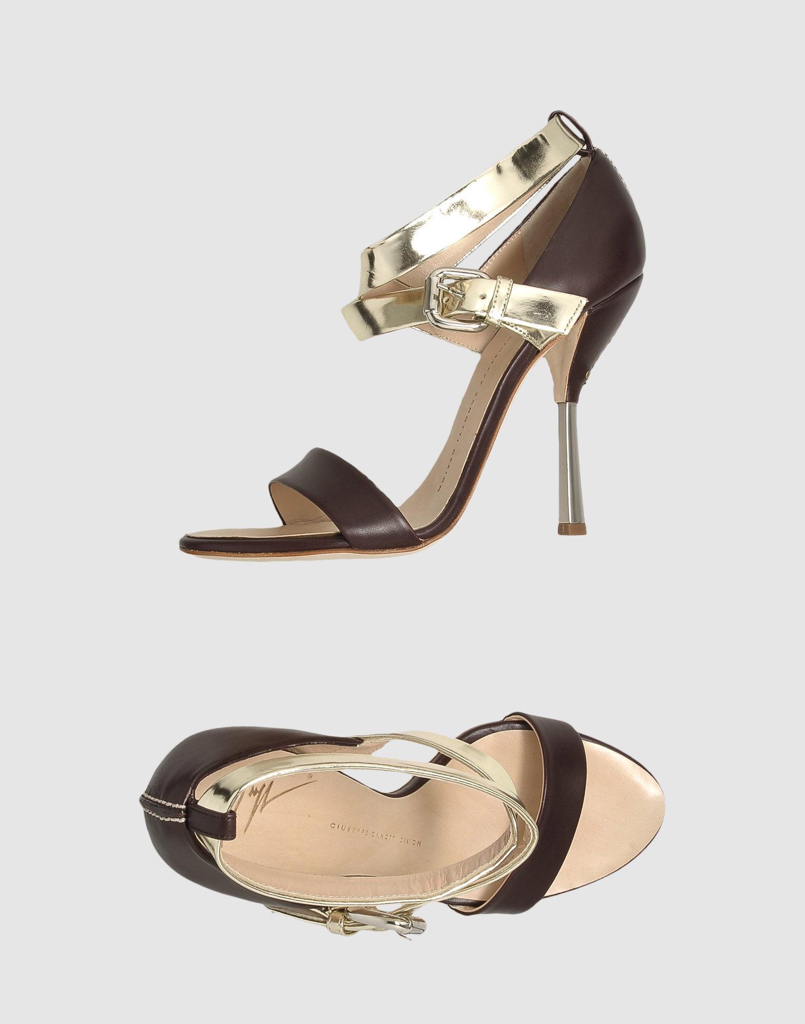 GIUSEPPE ZANOTTI DESIGN Босоножки на каблуке цены онлайн