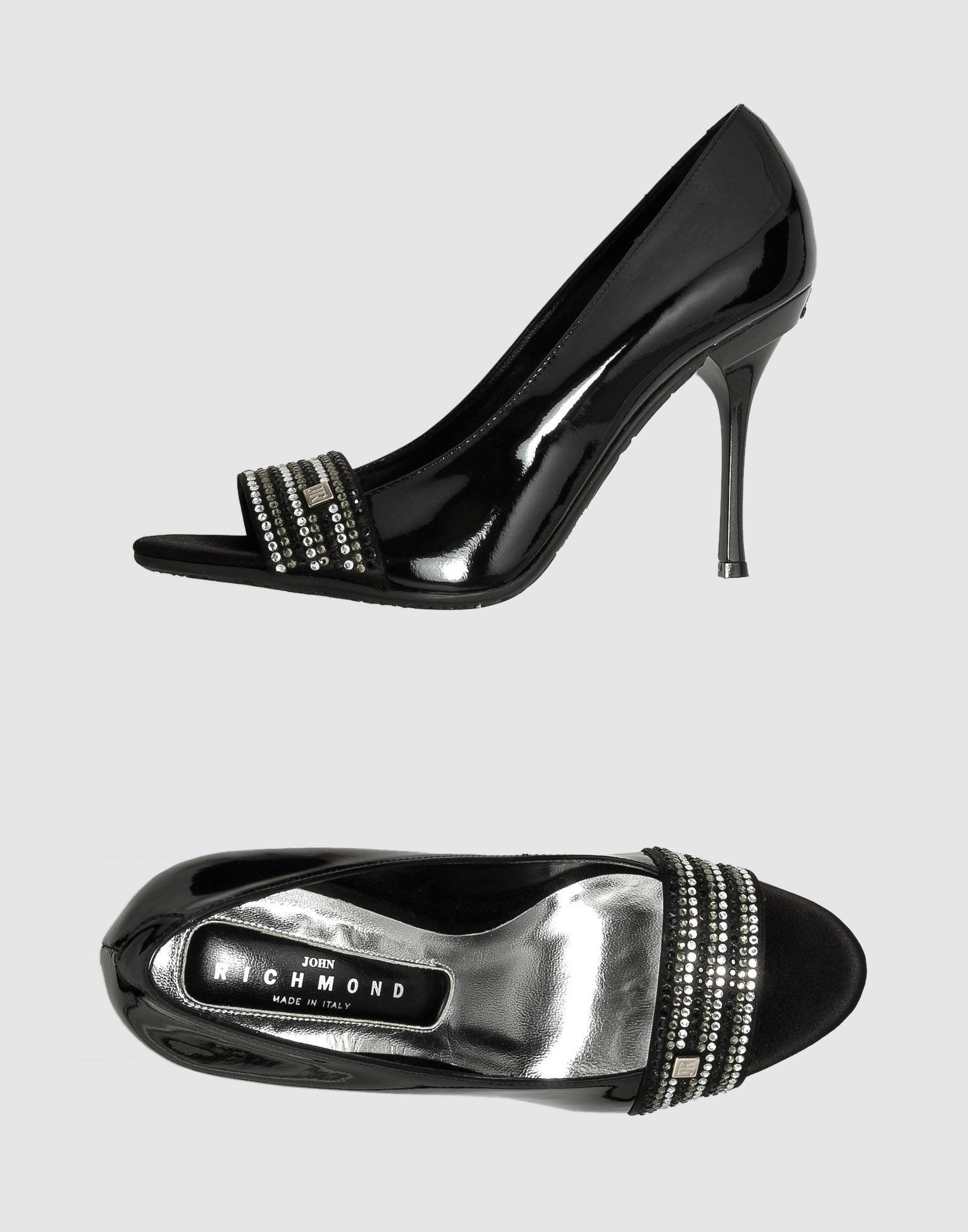 цена JOHN RICHMOND Туфли с открытым носком онлайн в 2017 году