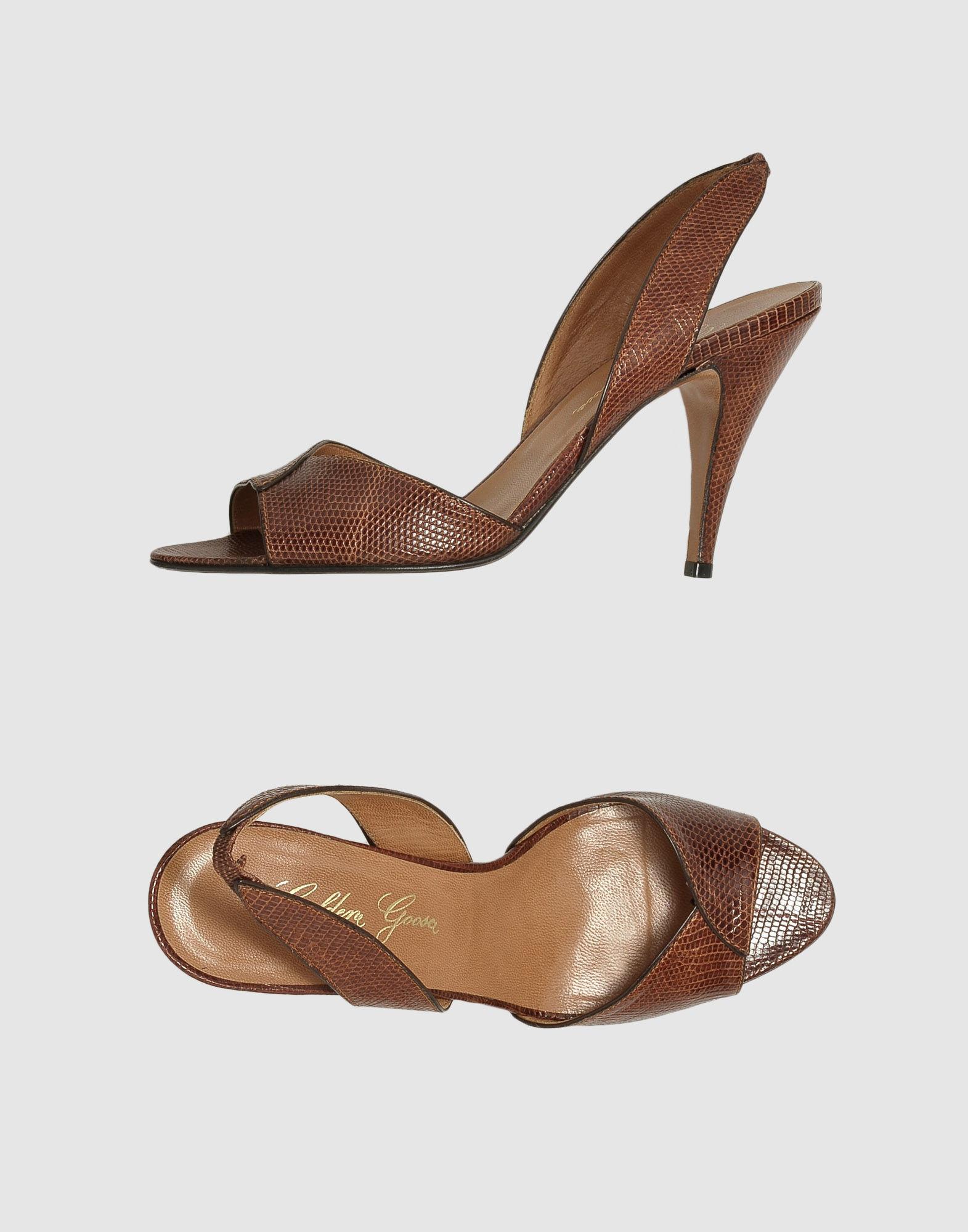 GOLDEN GOOSE DELUXE BRAND Босоножки на каблуке цены онлайн