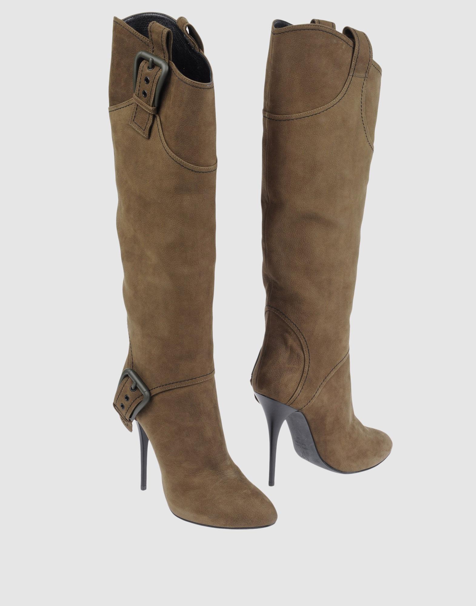 GIUSEPPE ZANOTTI Сапоги на каблуке сапоги кожаные на плоском каблуке 1137