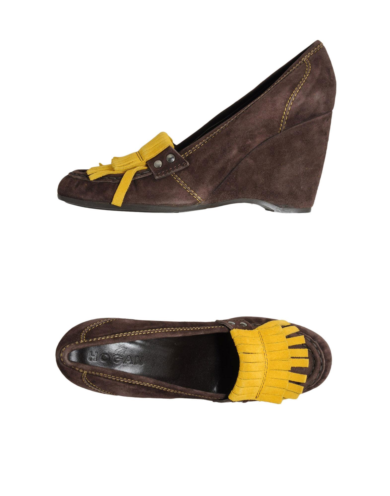 цена HOGAN Обувь на танкетке онлайн в 2017 году