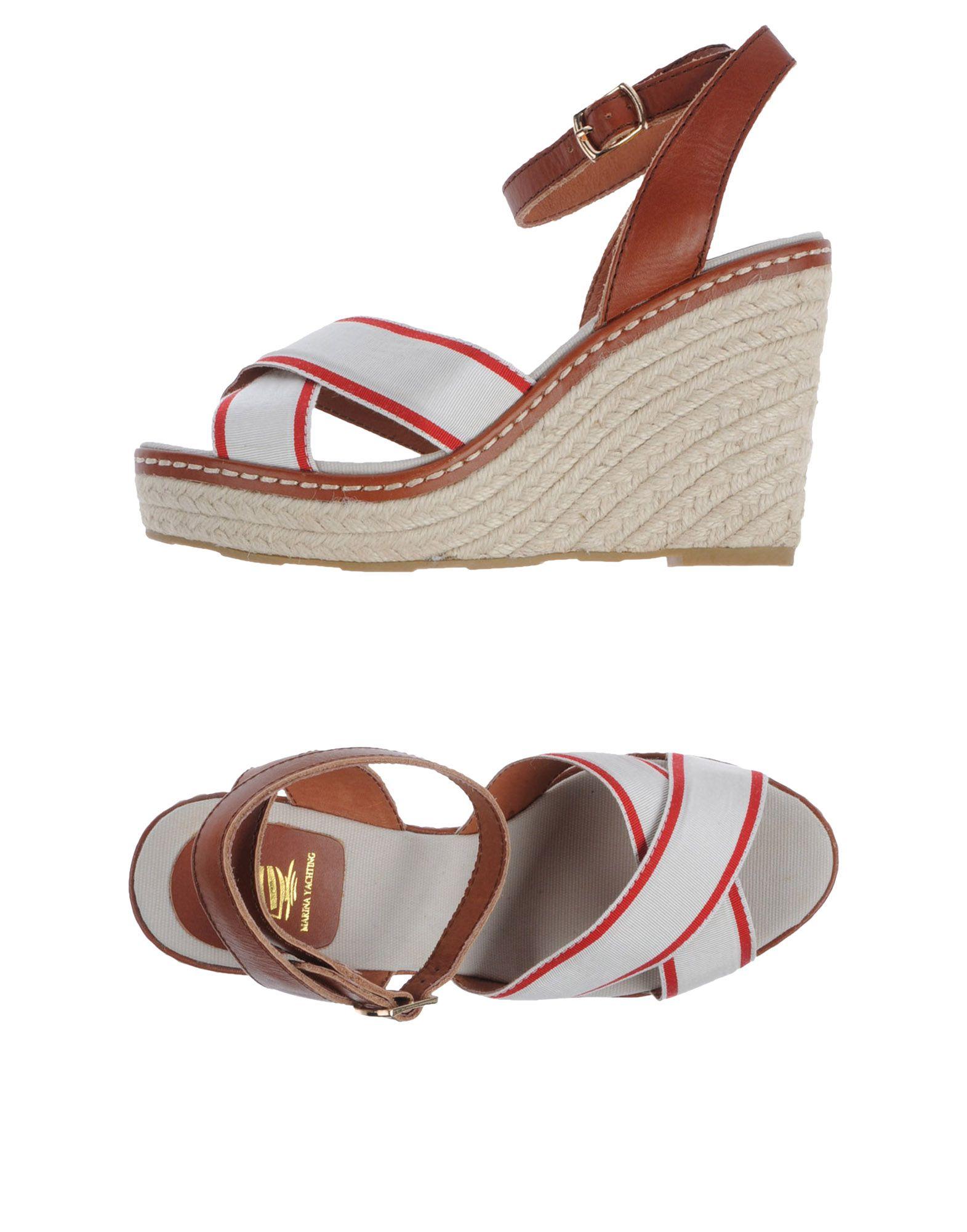 MARINA YACHTING Обувь на танкетке цены онлайн