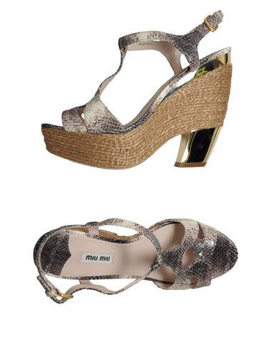 zapatillas MIU MIU Sandalias con plataforma mujer