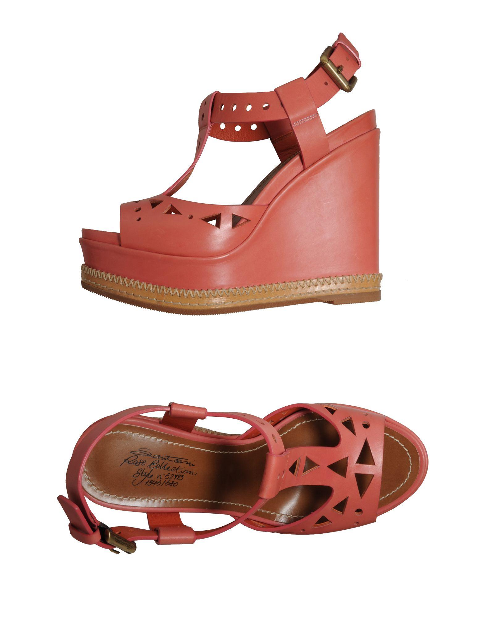цена SANTONI Обувь на танкетке онлайн в 2017 году