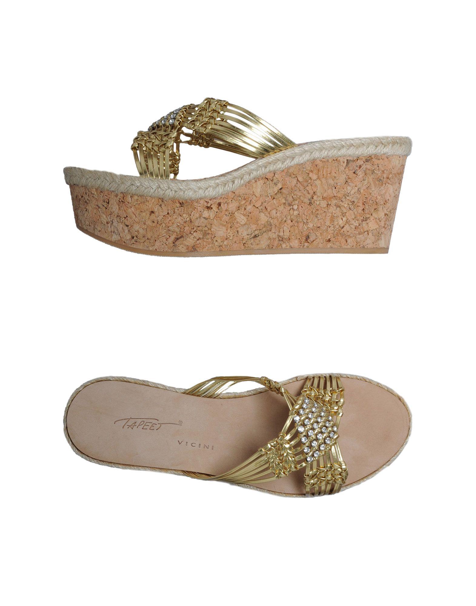 VICINI TAPEET Обувь на танкетке цены онлайн