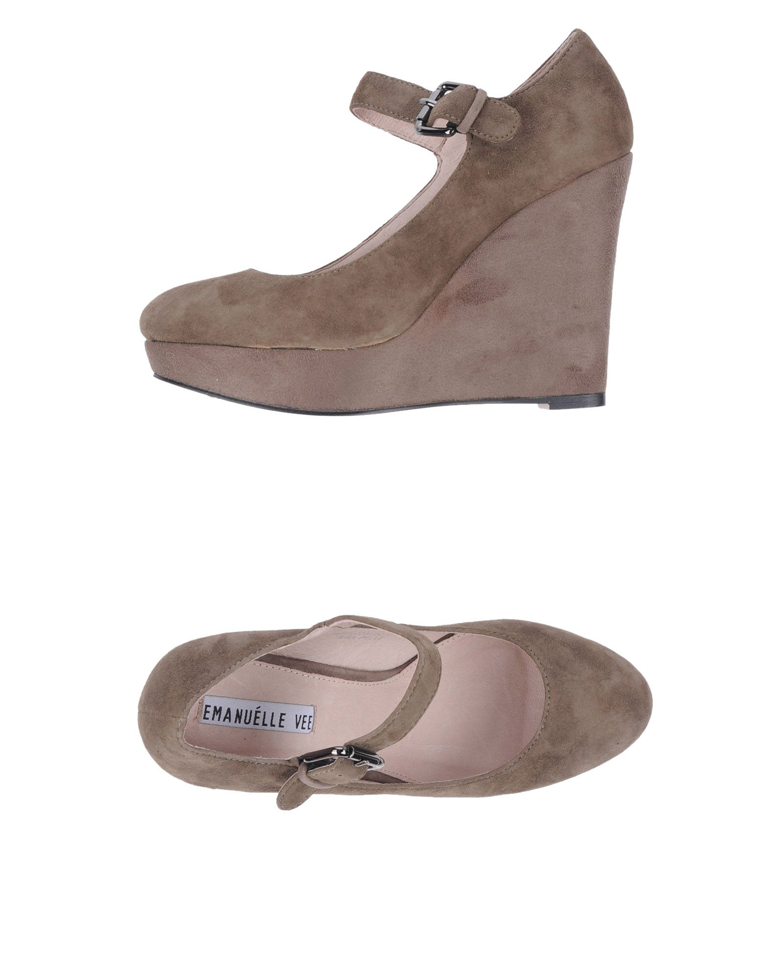 EMANUÉLLE VEE Обувь на танкетке цены онлайн