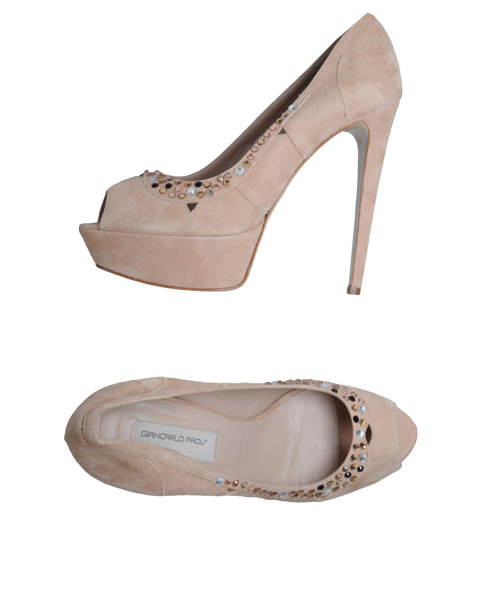 цена GIANCARLO PAOLI Туфли с открытым носком онлайн в 2017 году