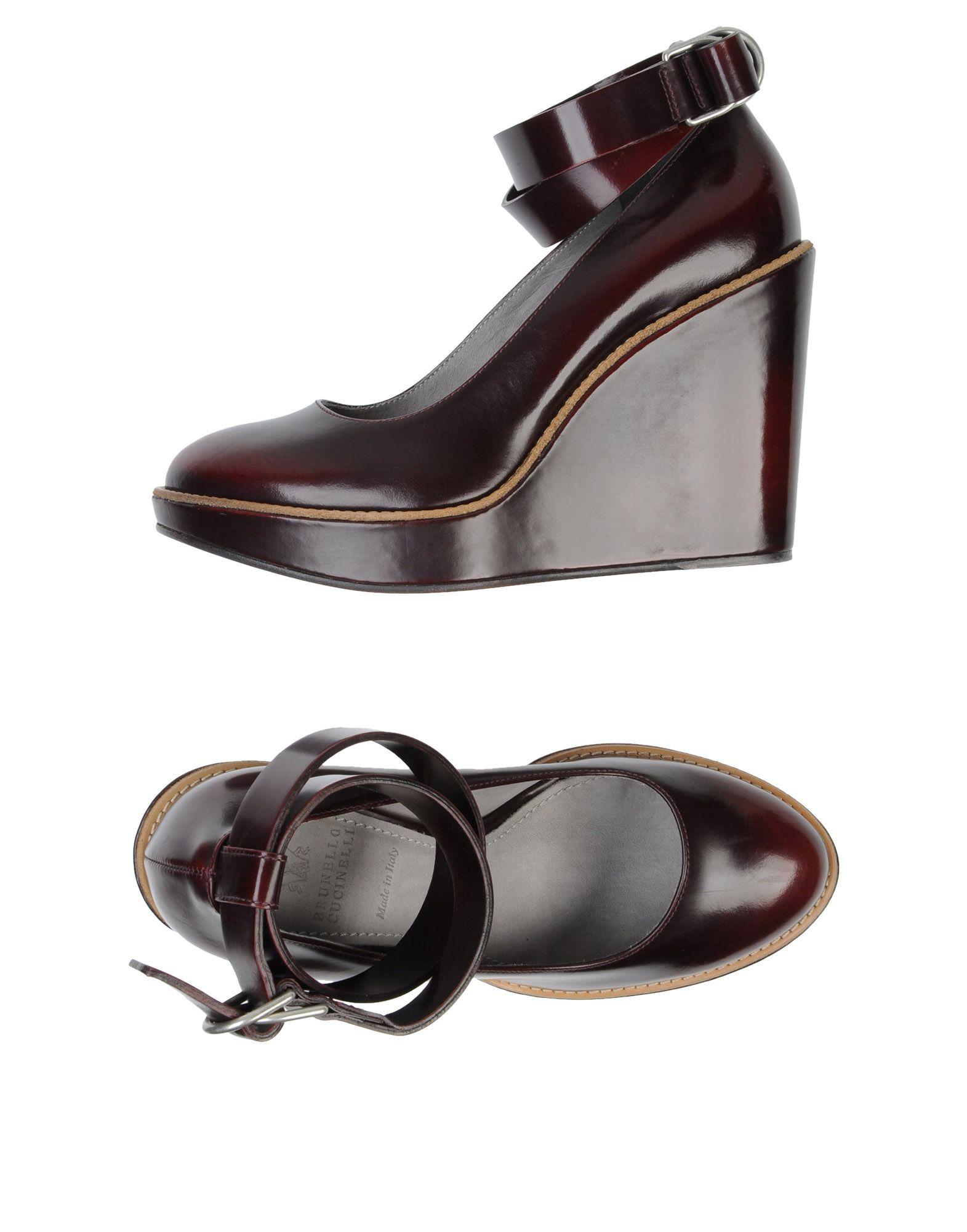 цена BRUNELLO CUCINELLI Обувь на танкетке онлайн в 2017 году