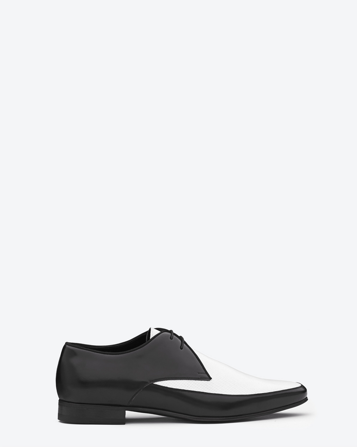 laurent signature derby plateau shoe in black