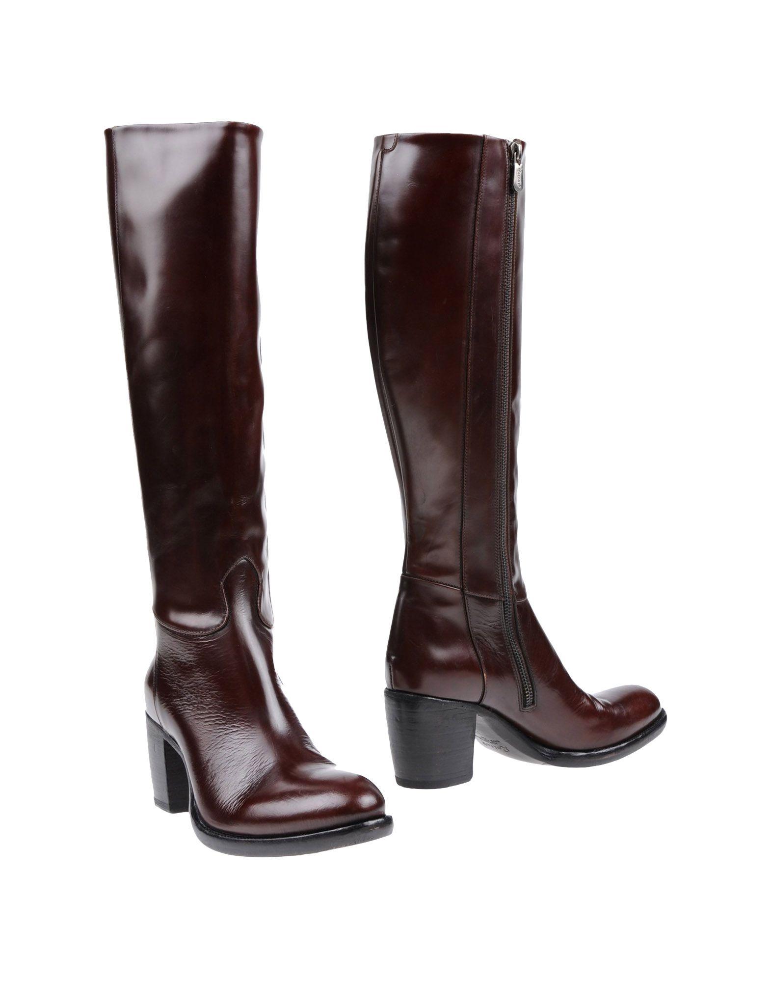 ROCCO P. Сапоги на каблуке сапоги кожаные на плоском каблуке 1137