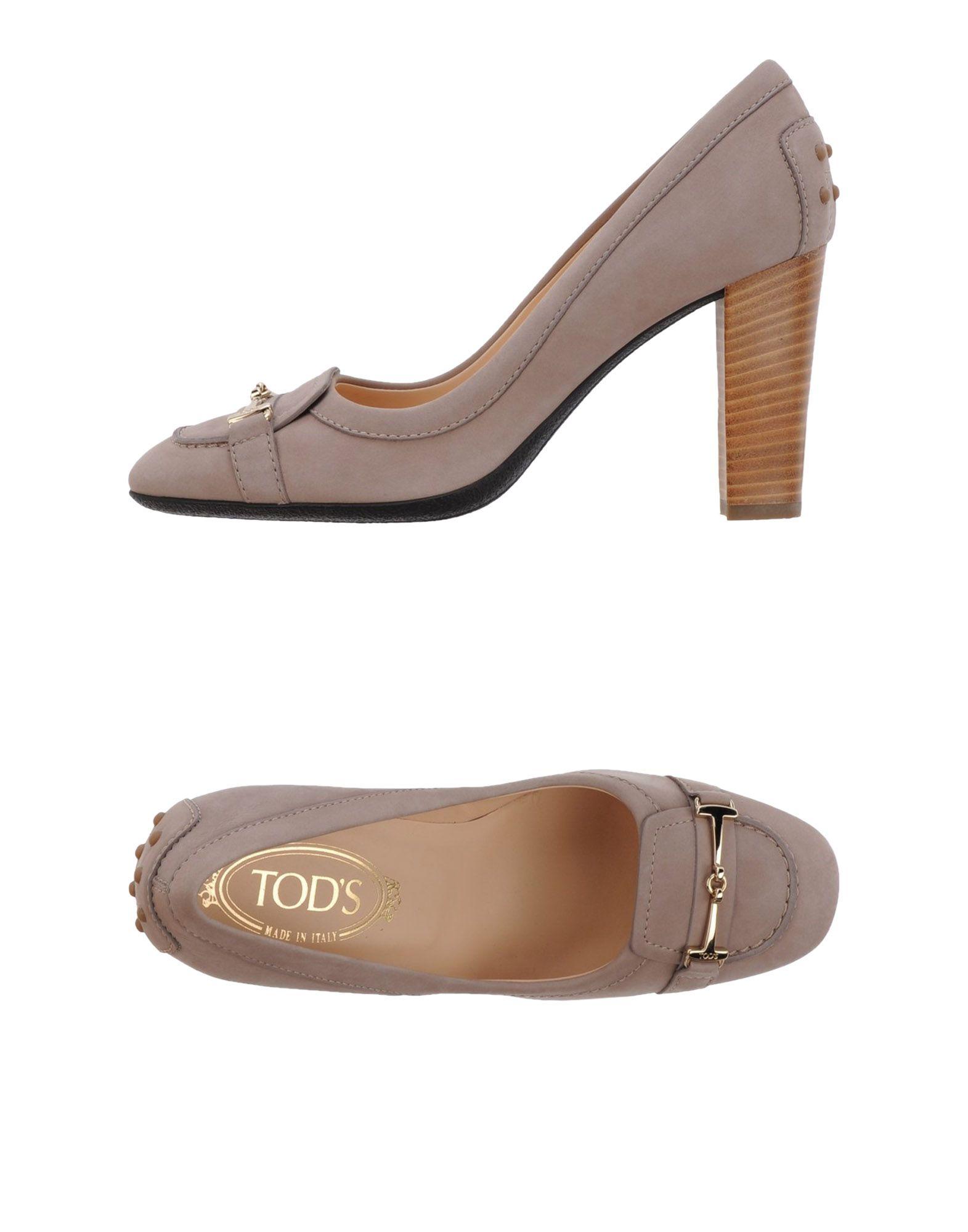TOD'S Лоферы на каблуке цены онлайн