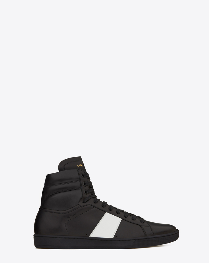 laurent sl 02h court classic high top sneakers in