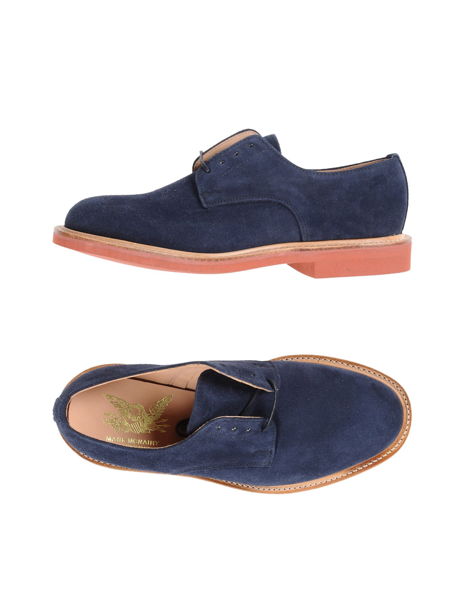 MARK MCNAIRY Laced Shoes in Dark Blue