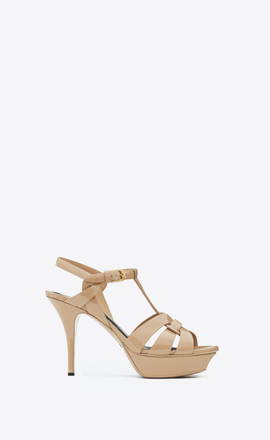 SAINT LAURENT Tribute D CLASSIC TRIBUTE 75 SANDAL IN POWDER PATENT LEATHER a_V4