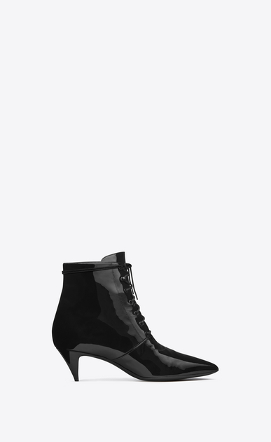 SAINT LAURENT Heel Booties D Cat Boot 50 Bootie in Black Patent Leather a_V4