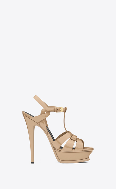 SAINT LAURENT Tribute D classic tribute 105 sandal in powder patent leather a_V4