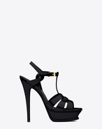 SAINT LAURENT Tribute D Classic Tribute 105 Sandal in Black Patent Leather f