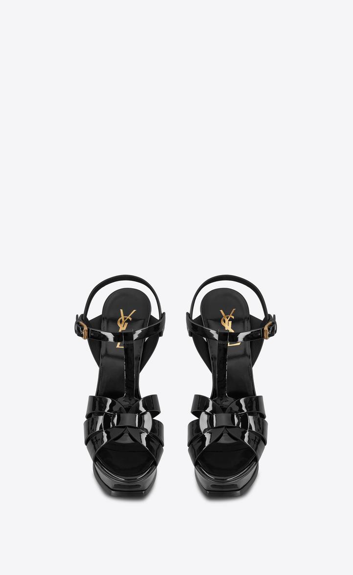 6ded937703e Saint Laurent Tribute Sandal In Patent Leather YSL.com ...