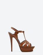 SAINT LAURENT Tribute D Classic Tribute 105 Sandal in Amber Leather f
