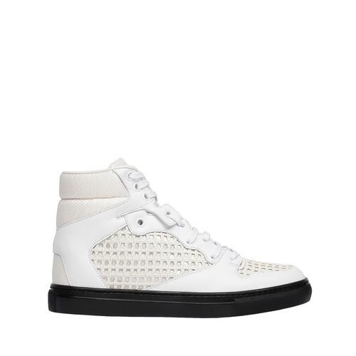 Balenciaga Monochrome Grid Sneakers