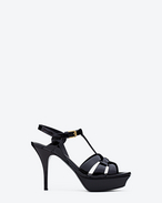 SAINT LAURENT Tribute D Classic Tribute 75 Sandal in Black Patent Leather f