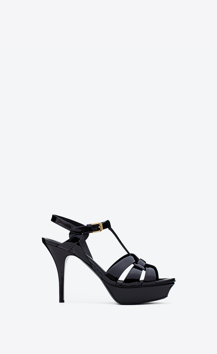 cceaf2f7be9 ... free shipping saint laurent tribute sandal in patent leather ysl fd6c3  f71af
