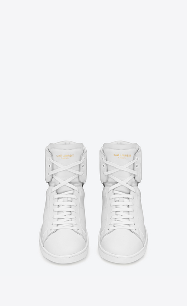 SAINT LAURENT High top sneakers U Signature Court Classic SL/01H HIGH TOP SNEAKER IN OPTIC WHITE LEATHER b_V4