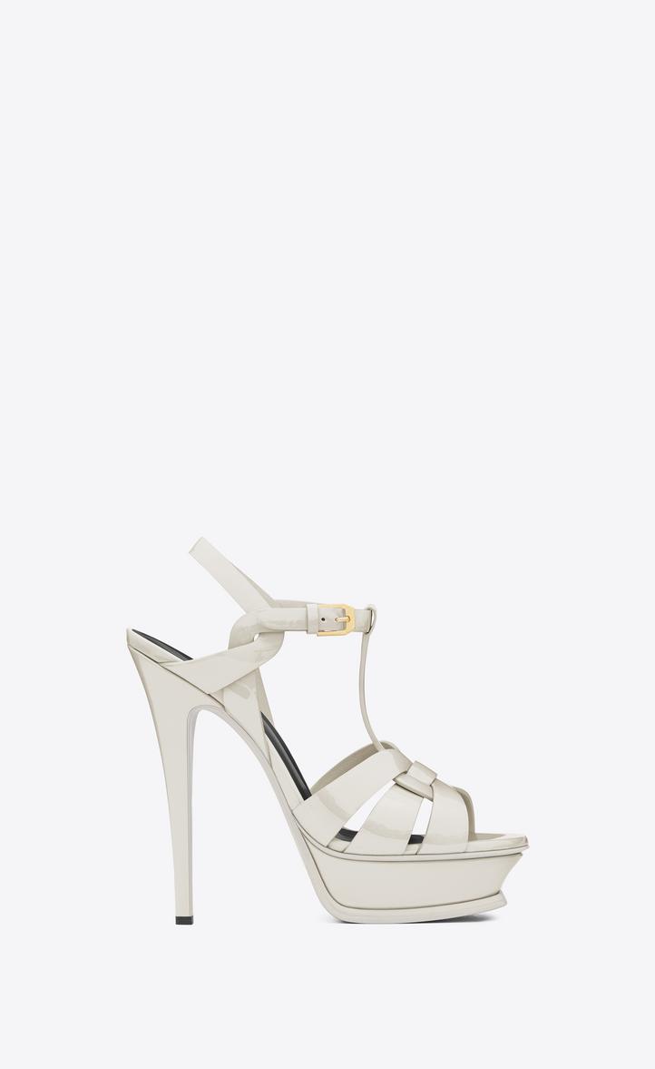 d906aaeb0c4f Classic Tribute 105 Sandal in Dove White Patent Leather