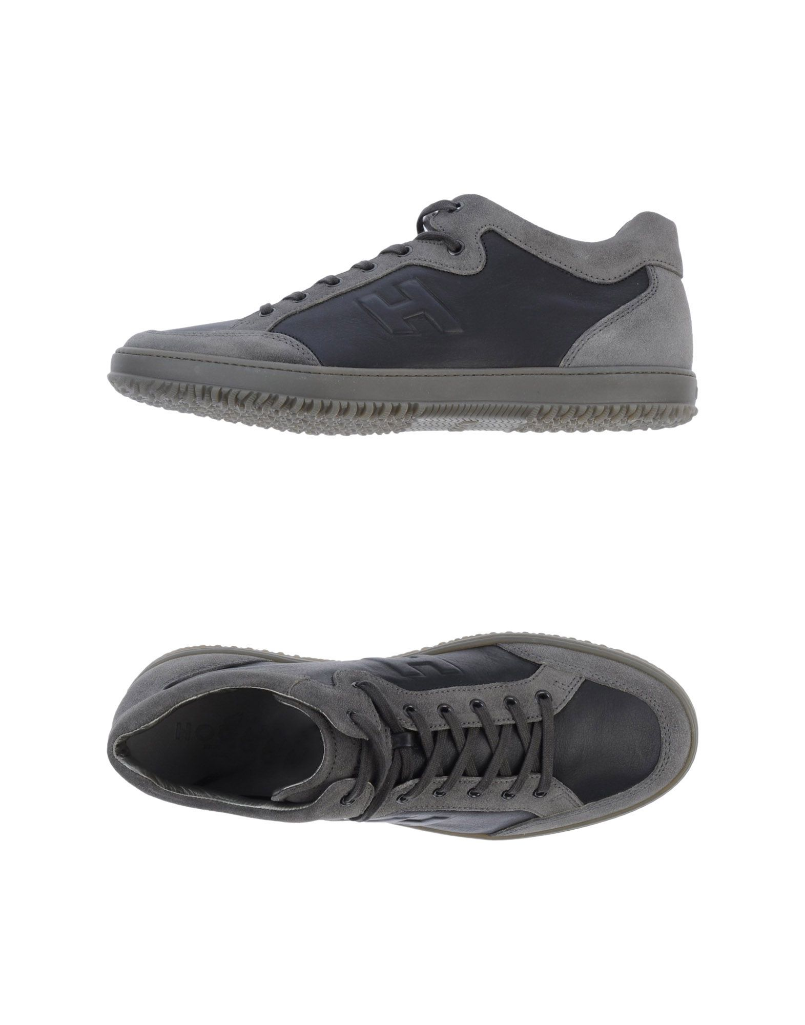 HOGAN Sneakers. sueded, logo detail, two-tone pattern, laces, round toeline, rubber sole, flat, large sized. Soft leather