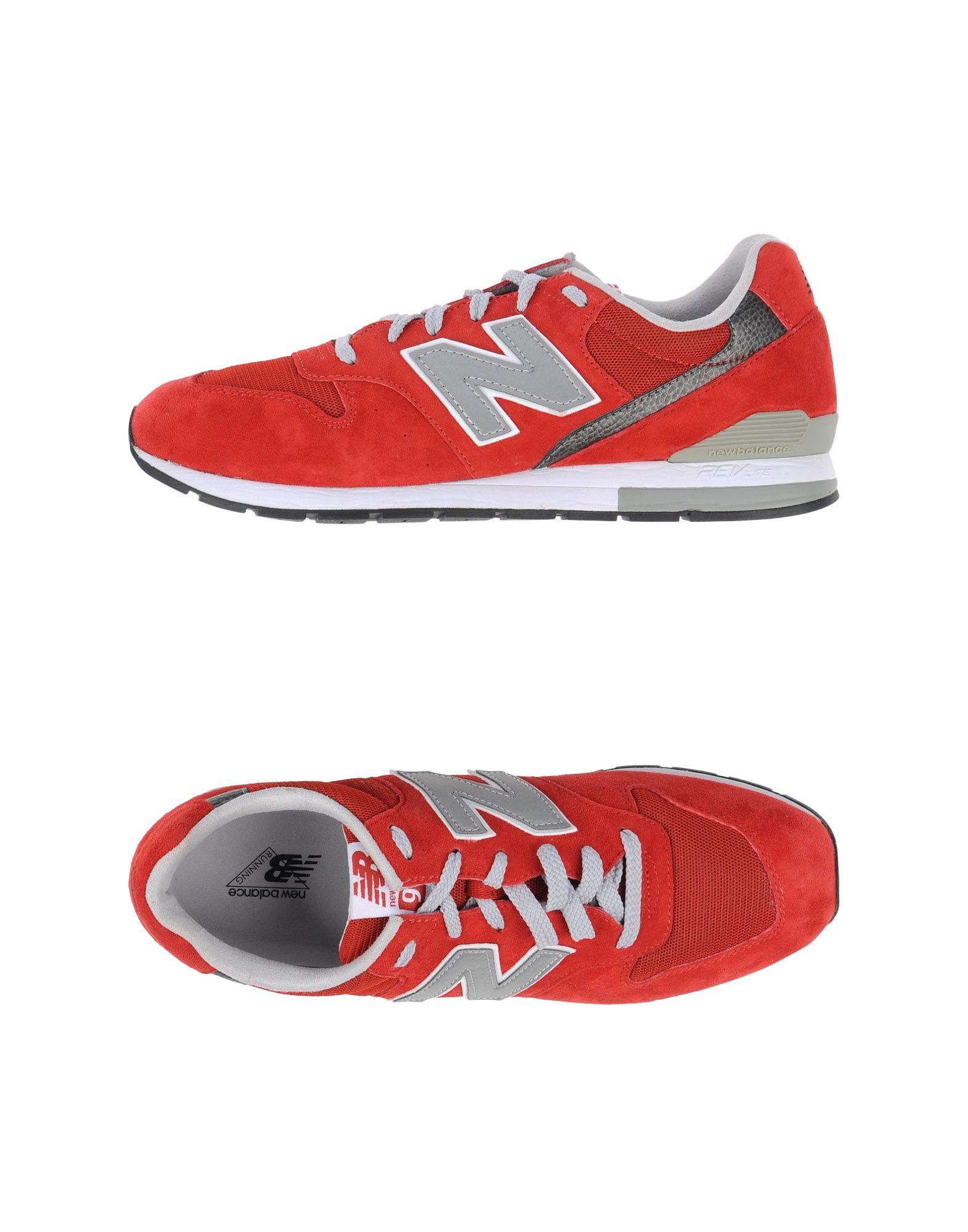 《期間限定 セール開催中》NEW BALANCE メンズ スニーカー&テニスシューズ(ローカット) レッド 9 革 / 紡績繊維 996 MESH