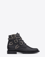 SIGNATURE RANGERS STUDDED BOOTS IN BLACK LEATHER
