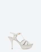 SAINT LAURENT Tribute D CLASSIC TRIBUTE 75 SANDAL IN DOVE WHITE LEATHER f