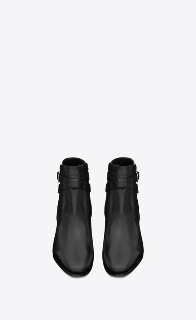 SAINT LAURENT Flat Booties D SIGNATURE Blake 40 JODHPUR ANKLE BOOT IN BLACK LEATHER b_V4
