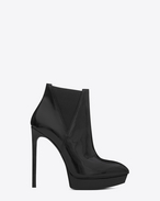 SAINT LAURENT Heel Booties D CLASSIC JANIS 105 Bootie IN BLACK textured LEATHER f