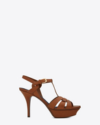 SAINT LAURENT Tribute D CLASSIC TRIBUTE 75 SANDAL IN Amber LEATHER f